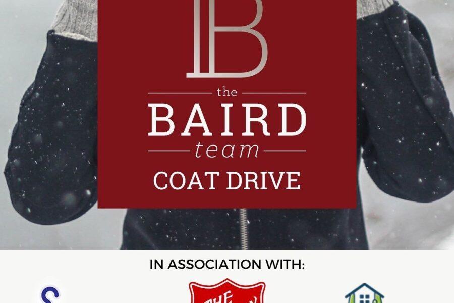 The Baird Team Coat Drive 2020